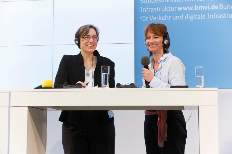 Dr Katharina Erdmenger (BMVI) i Magdalena Zagrzejewska (MR), współprzewodniczący Polsko-Niemieckiego Komitetu ds. Gospodarki Przestrzennej