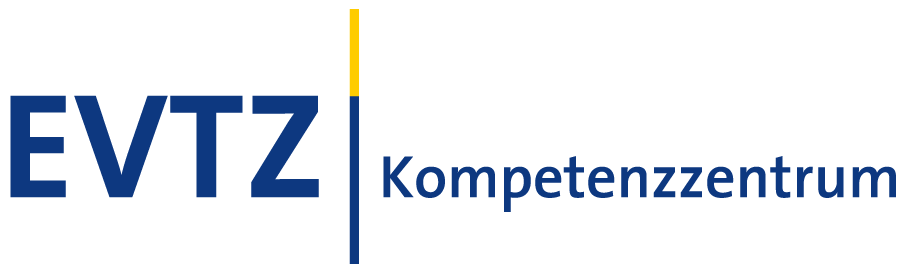 Logo EVTZ-Kompetenzzentrum, Viadrina Center B/ORDERS IN MOTION, Europa-Universität Viadrina, Frankfurt (Oder)