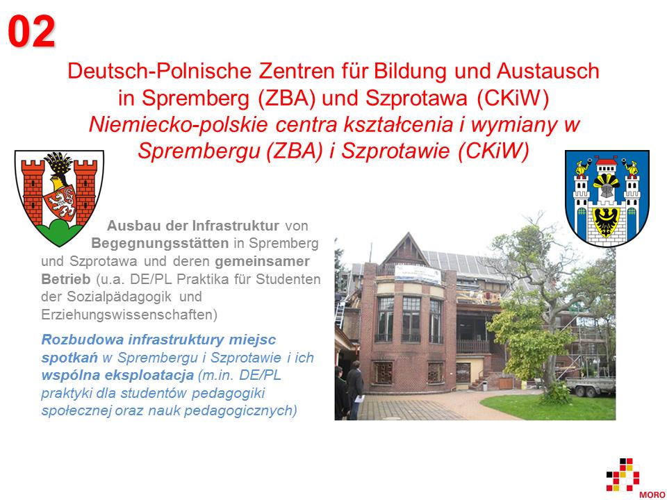 Zentren für Bildung und Austausch / Centra kształcenia i wymiany