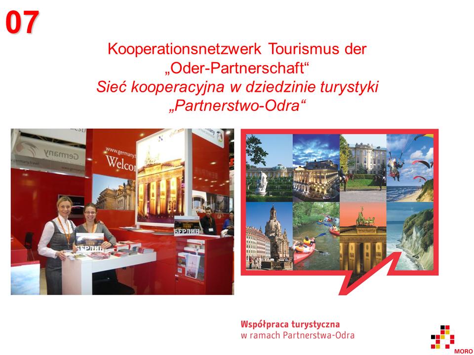 Tourismuskooperation Oder-Partnerschaft / Współpraca turystyczna Partnerstwo-Odra