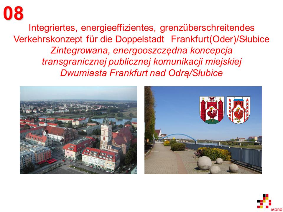 Verkehrskonzept / Koncepcja komunikacji miejskiej Frankfurt(Oder)/Słubice