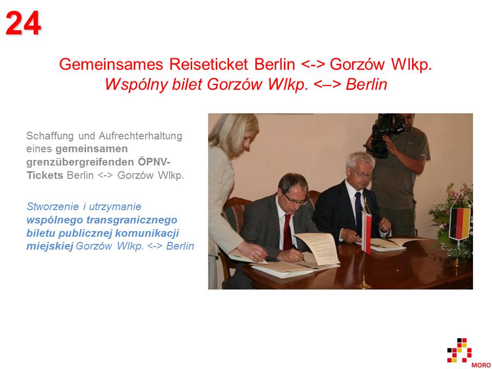 Gemeinsames Reiseticket / Wspólny bilet Berlin – Gorzów Wlkp.