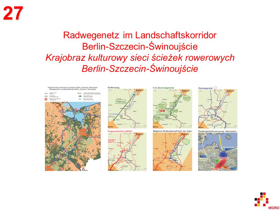 Radwegenetz / Sieć ścieżek rowerowych Berlin-Szczecin-Świnoujście