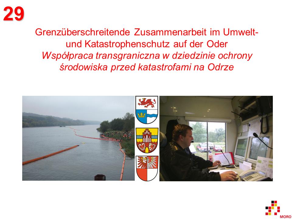 Umwelt- und Katastrophenschutz auf der Oder / Ochrona środowiska przed katastrofami na Odrze