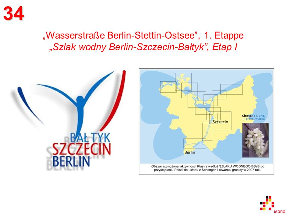 Wasserstraße Berlin – Stettin – Ostsee / Szlak wodny Berlin – Szczecin – Bałtyk