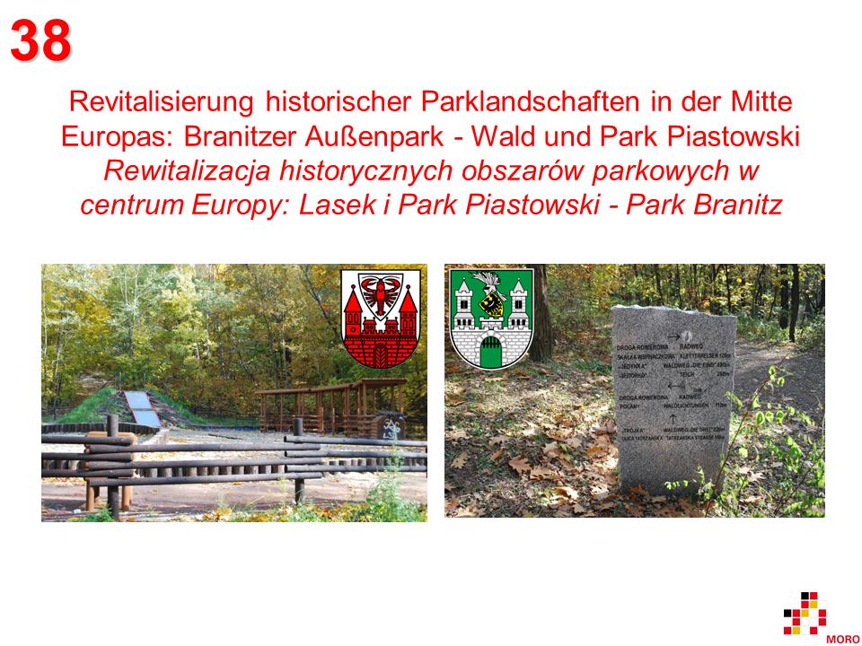 Parklandschaften / Obszary parkowe Branitzer Außenpark - Lasek i Park Piastowski
