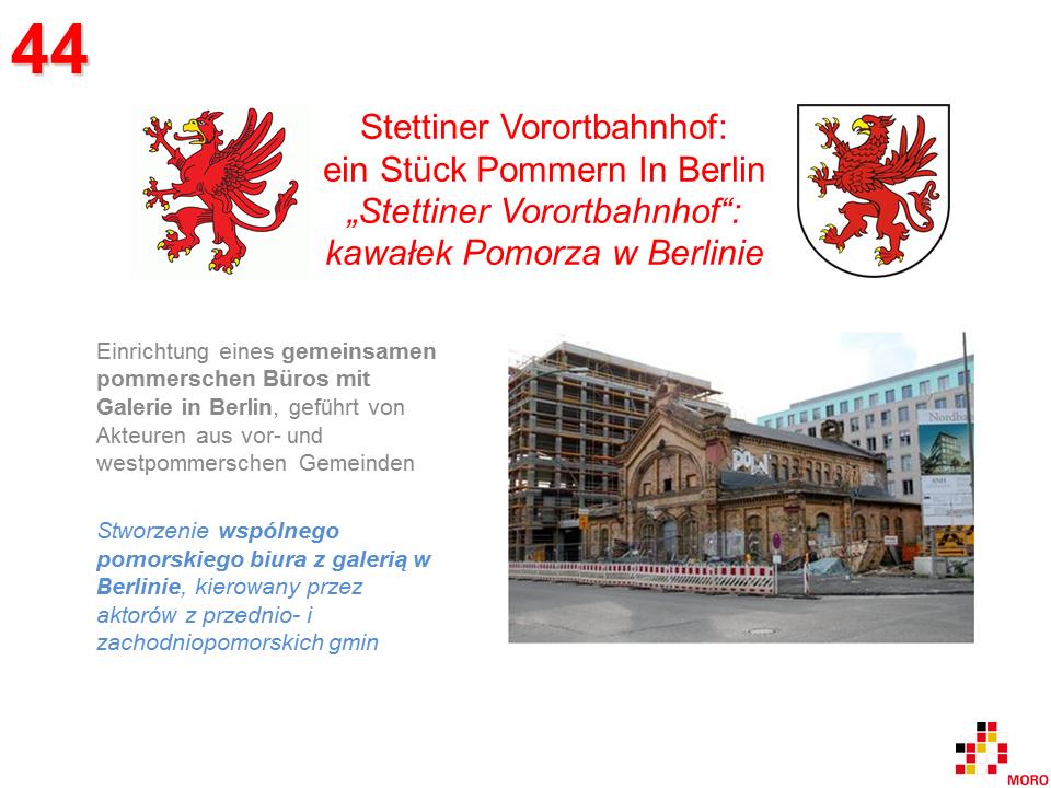 Stettiner Vorortbahnhof – ein Stück Pommern in Berlin / Kawałek Pomorza w Berlinie