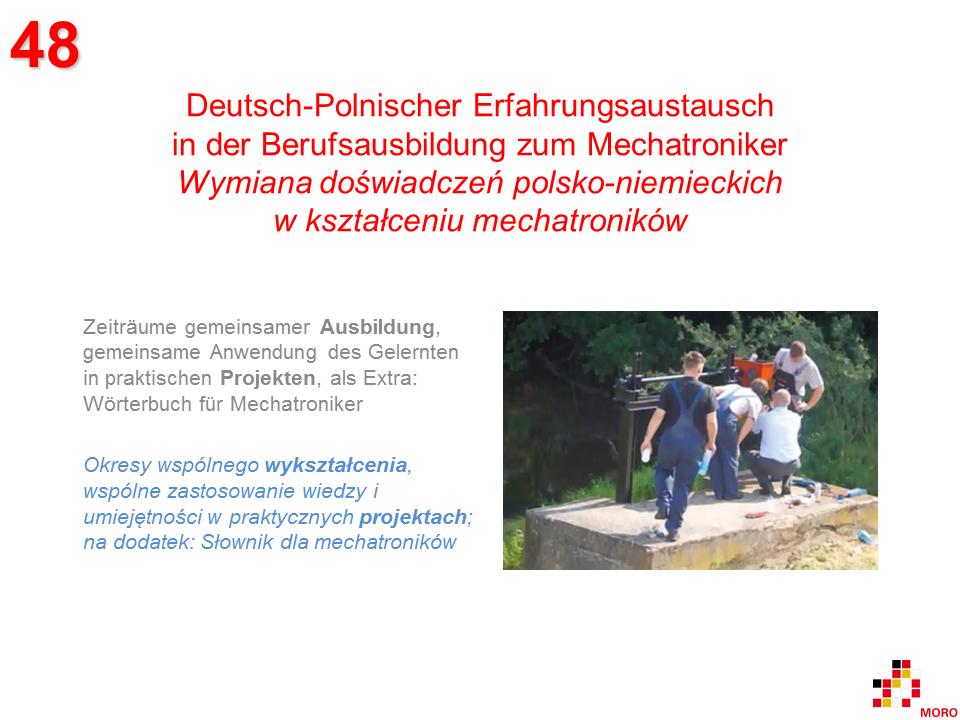Berufsausbildung zum Mechatroniker / Kształcenie mechatroników 1