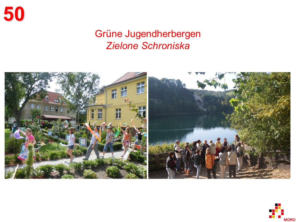 Grüne Jugendherbergen / Zielone Schroniska
