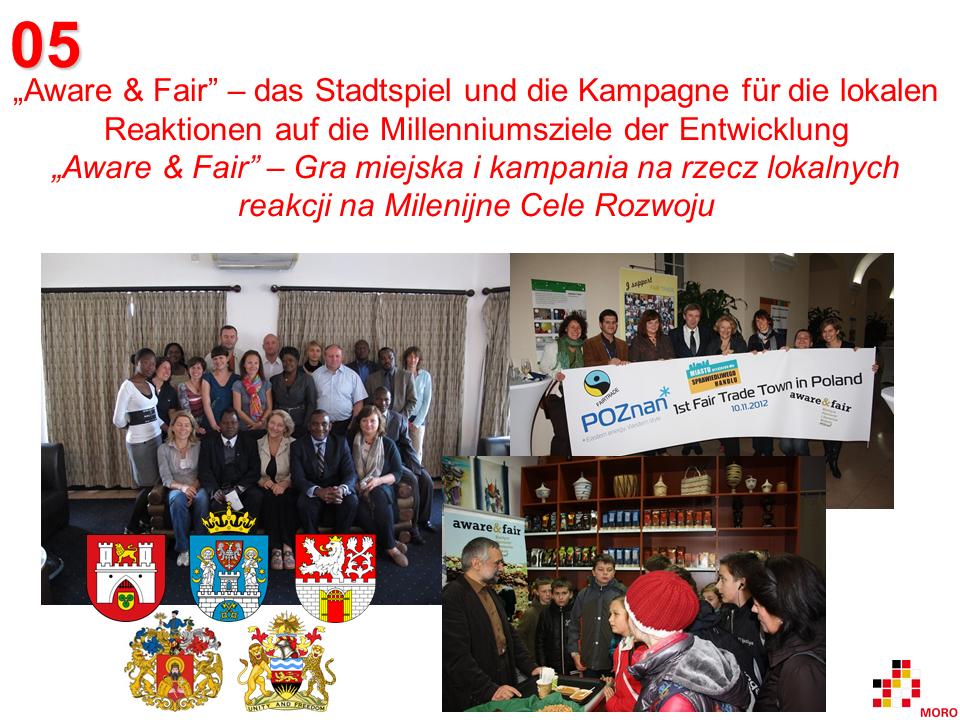 """Aware & Fair"" – Stadtspiel und Kampagne / Gra miejska i kampania"