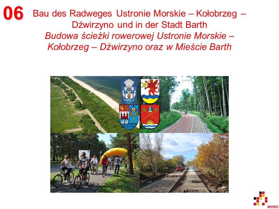 Radweg / Ścieżka rowerowa Ustronie Morskie – Kołobrzeg – Dźwirzyno / Barth