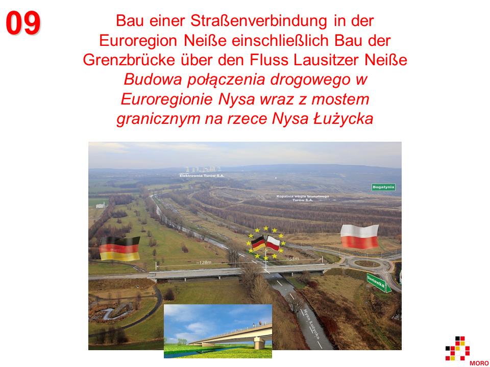 Straßenverbindung über die Lausitzer Neiße / Połączenie drogowe nad Nysą Łużycką