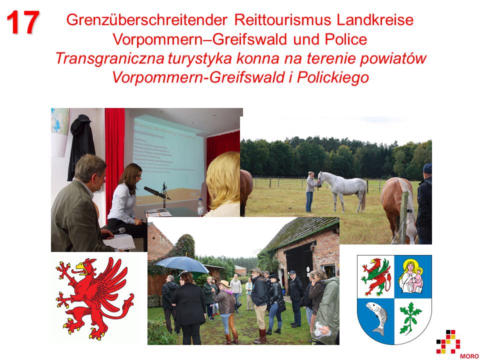 Grenzüberschreitender Reittourismus / Transgraniczna turystyka konna Vorpommern–Greifswald – Police