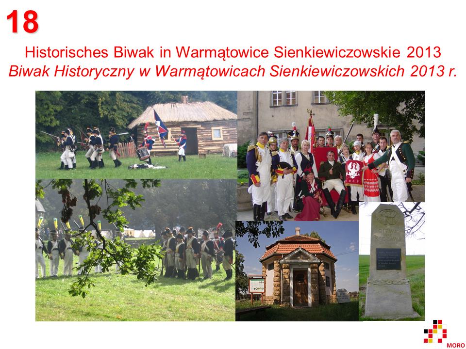 Historisches Biwak / Biwak Historyczny – Warmątowice Sienkiewiczowskie