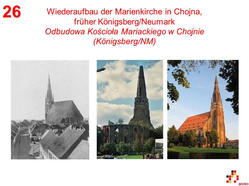 Wiederaufbau Marienkirche Chojna / Odbudowa Kościoła Mariackiego w Chojnie