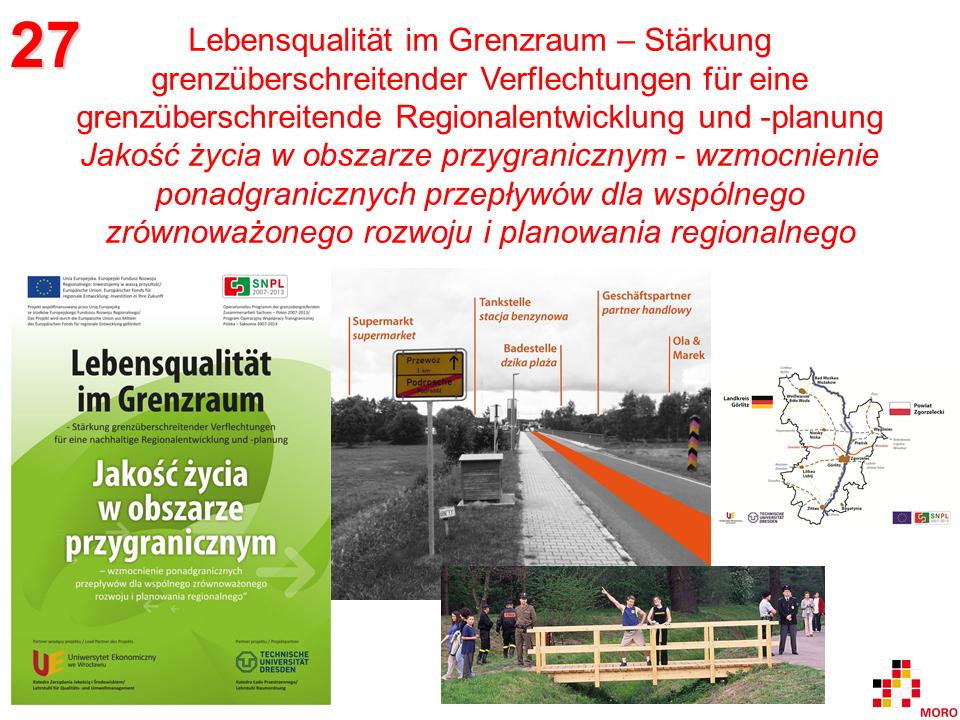 Lebensqualität im Grenzraum / Jakość życia w obszarze przygranicznym