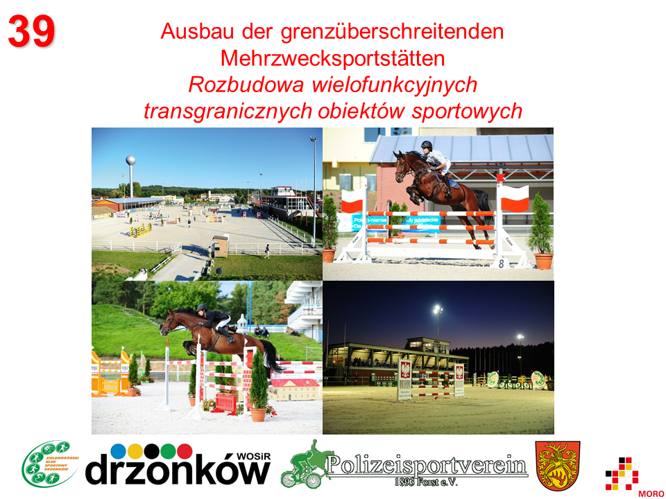 Mehrzwecksportstätten / Wielofunkcyjne obiekty sportowe