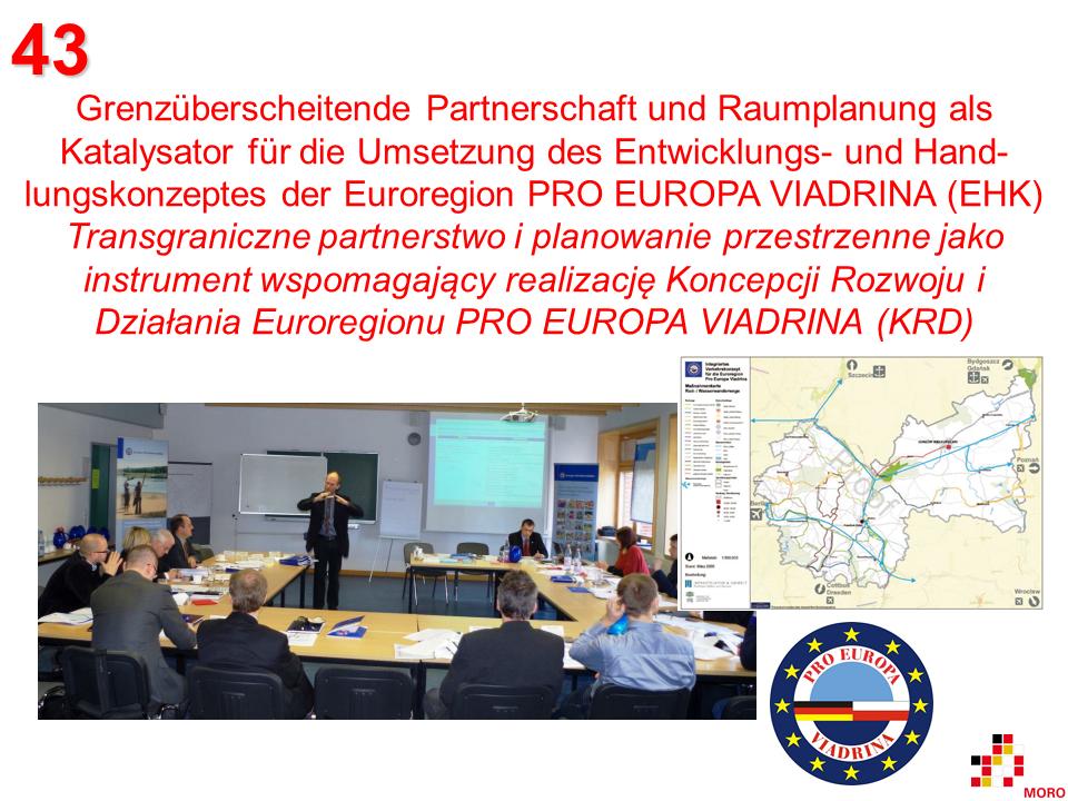 Raumplanung / Planowanie przestrzenne – Euroregion PRO EUROPA VIADRINA