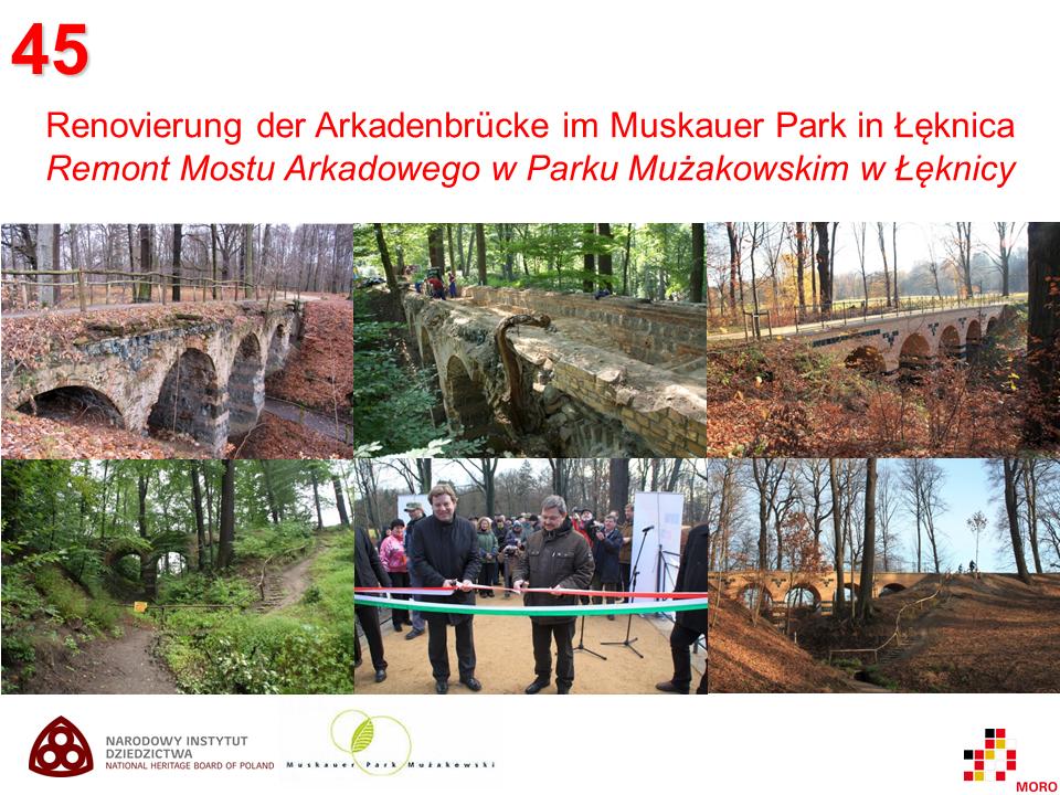 Arkadenbrücke im Muskauer Park / Most Arkadowy w Parku Mużakowskim