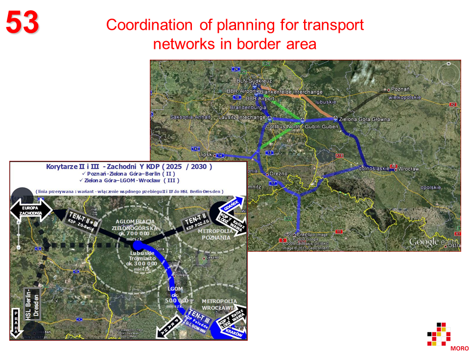 Coordination of planning for transport networks in border area