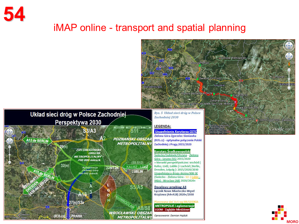 iMAP online - transport and spatial planning