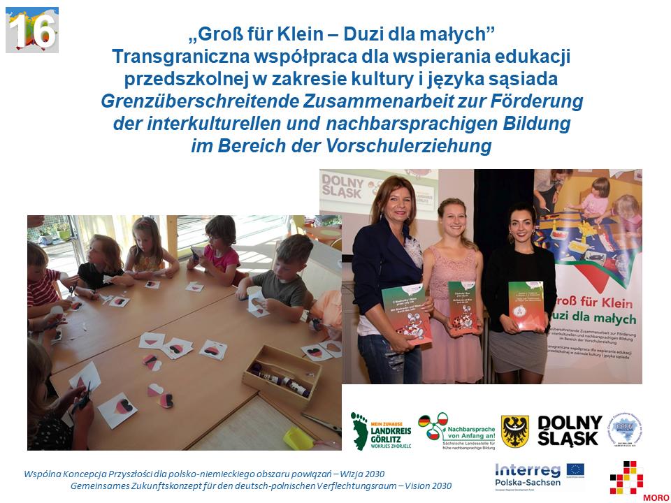 """""""Groß für Klein –  Duzi dla małych"""" Transgraniczna współpraca dla wspierania edukacji przedszkolnej w zakresie kultury i języka sąsiada"""