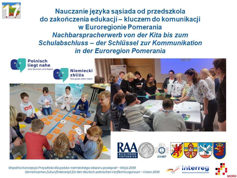 Nauczanie języka sąsiada od przedszkola do zakończenia edukacji – kluczem do komunikacji w Euroregionie Pomerania