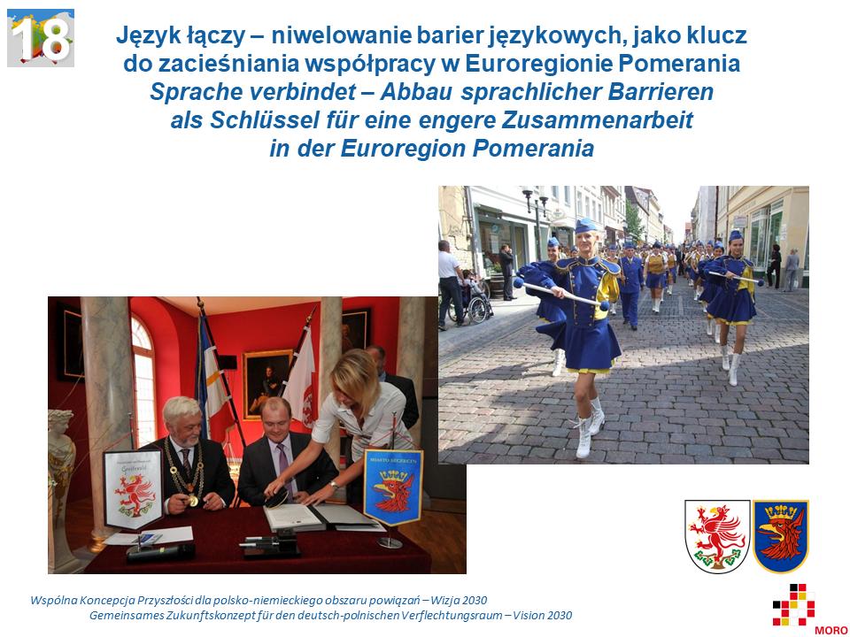 Język łączy – niwelowanie barier językowych, jako klucz do zacieśniania współpracy w Euroregionie Pomerania / Sprache verbindet – Abbau sprachlicher Barrieren als Schlüssel für eine engere Zusammenarbeit in der Euroregion Pomerania