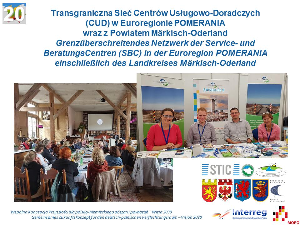 Transgraniczna Sieć Centrów Usługowo-Doradczych (CUD) w Euroregionie POMERANIA wraz z Powiatem Märkisch-Oderland