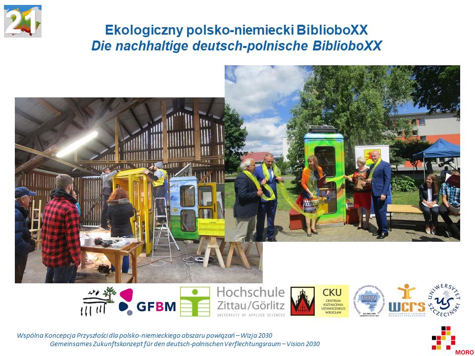 Ekologiczny polsko-niemiecki BiblioboXX / Die nachhaltige deutsch-polnische BiblioboXX