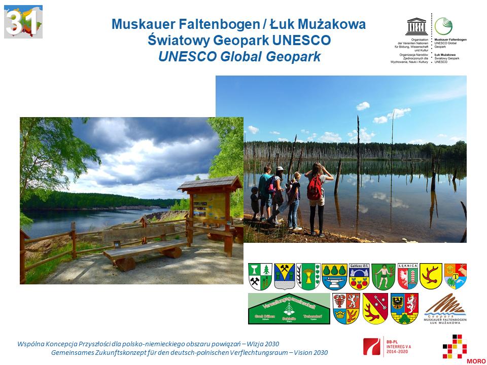 Muskauer Faltenbogen / Łuk Mużakowa Światowy Geopark UNESCO