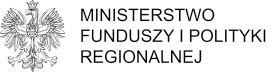 Logo des Ministeriums für europäische Fonds und Regionalpolitik