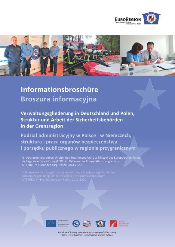 Titel Verwaltungsbroschüre Euroregion Spree-Neiße-Bober / Sprewa-Nysa-Bóbr