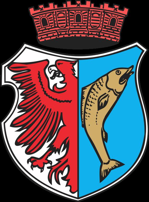 Herb miasta Kostrzyn nad Odrą, źródło: Wikimedia Commons, https://commons.wikimedia.org/wiki/File:POL_Kostrzyn_nad_Odr%C4%85_COA.svg