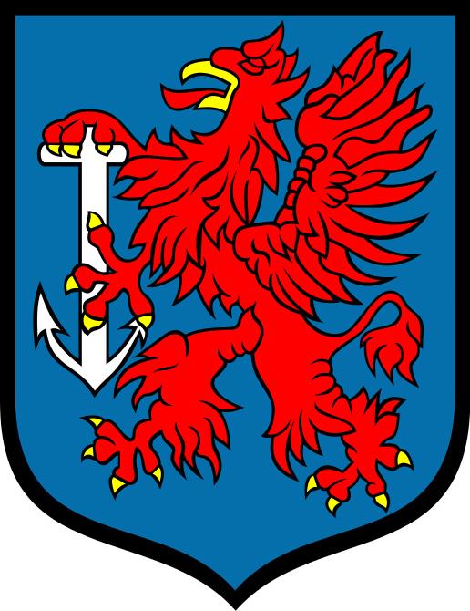 Herb miasta Świnoujście, źródło: Wikimedia Commons, https://commons.wikimedia.org/wiki/File:POL_%C5%9Awinouj%C5%9Bcie_COA_1.svg
